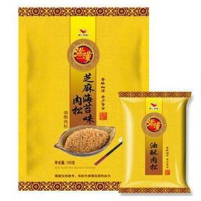 统一 满汉 芝麻海苔味油酥肉松 100g 折9.9元(19.9,买1送1)