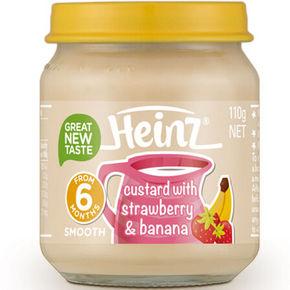 Heinz 亨氏 草莓香蕉蛋奶羹 110g 11.7元(9.9+1.8)