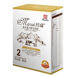 辉山奶粉 新款玛瑞系列 婴儿奶粉2段 400g 9.9元(2件包邮)