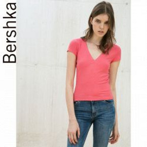 Bershka 女士V领修身T恤衫 19元