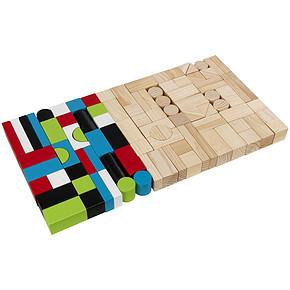 KidKraft Wooden Block Set 100粒木质积木套装 99元包邮(199-100)