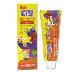 B&B 保宁 儿童护齿牙膏 香橙味 3岁以上 80g 11.7元(9.9+1.8)