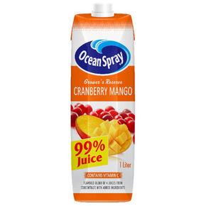 优鲜沛 蔓越莓芒果复合果汁 1L*17瓶 114.5元包邮(202.3-100+12.2)