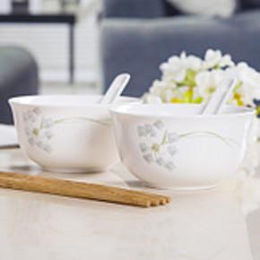 圣恩达 景德镇家用陶瓷餐具 2碗2勺2筷子 券后5.1元包邮