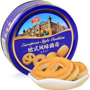 华美 欧式风味 曲奇饼干 258g 折6元(9.8,99-40)