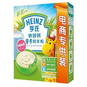 亨氏 铁锌钙营养奶米粉电商专供装325g 18元