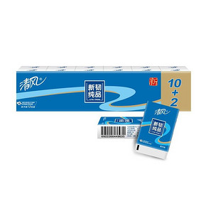 清风 纸巾 新韧时代 4层8张12包 2.95元(5.9,买2付1)