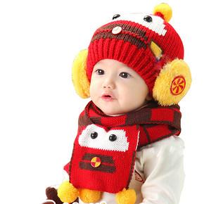 韩版儿童帽子围巾两件套 14.9元包邮