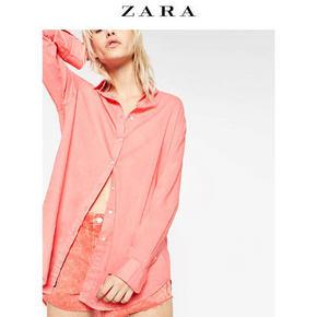 ZARA TRF 女装条纹长版衬衫 99元包邮