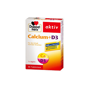 doppelherz 德国双心 男女补钙D3活性营养钙片 30片 29元包邮(69-40券)