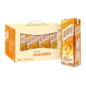 蒙牛 真果粒 黄桃果粒 250ml*12盒 29.9元包邮