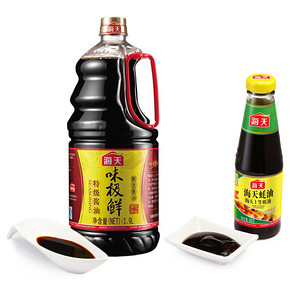 海天 味极酱油 1.9L+蚝油 260g 19.9元