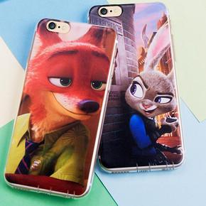 iphone6s 疯狂动物城创意卡通手机壳 1.9元包邮