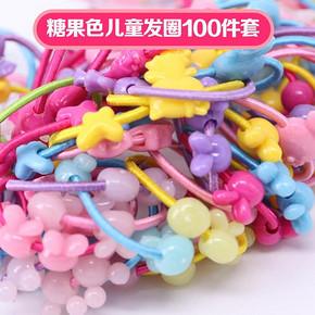 儿童简约彩色橡皮筋 100根 5.7元包邮