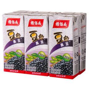 马来西亚进口 杨协成 黑豆豆奶 250ml*6包 13.5元