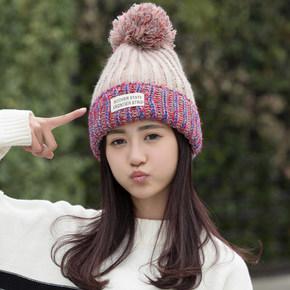 靓耐 韩版时尚保暖针织毛线帽 券后6.9元包邮