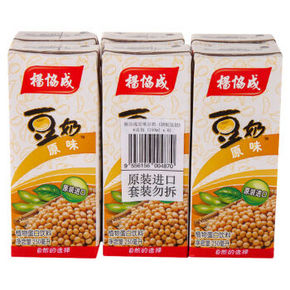 马来西亚进口 杨协成 原味豆奶 250ml*6包 13.5元