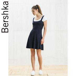 Bershka BSK 女士背部镂空印花连衣裙 59元包邮