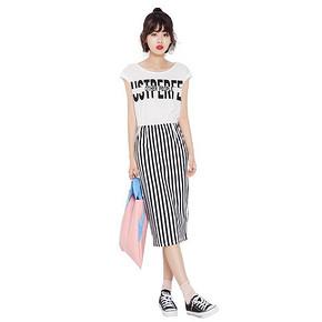 7.Modifier 字母印花条纹连衣裙 69元包邮