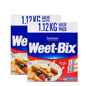 欢乐颂同款# weet-bix 营养谷物麦片 1.12kg*2盒 99.6元包邮(99-10券+10.6)