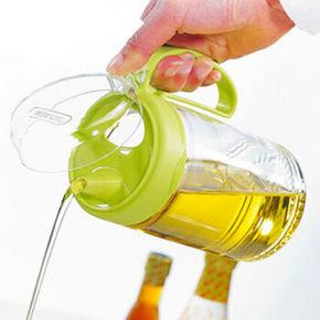 茶花玻璃油壶 450ml 9.9元包邮