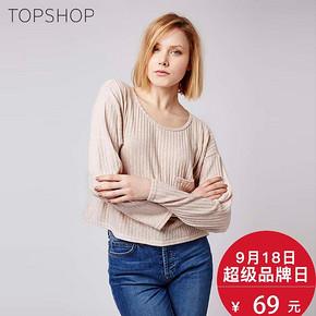 TOPSHOP2016 女士圆领竖条薄款纹针织衫 69元包邮