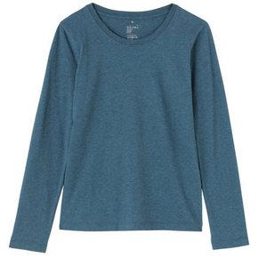 MUJI  无印良品 女式棉圆领长袖T恤 45元