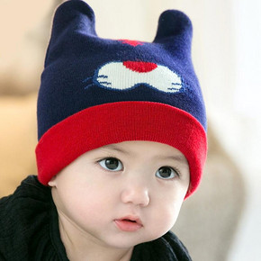 妈妈小镇 婴儿秋冬帽子 7.8元包邮