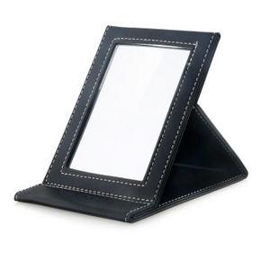 米卡 PU折叠化妆镜 黑色 10元