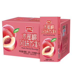 盼盼 水蜜桃汁 250ml*24盒 19.9元