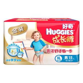 好奇 金装成长裤 裤型纸尿裤 男 XL15片 36元