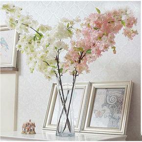 奇葩 三叉带叶仿真樱花 6.8元包邮