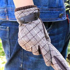 Warmen 男士冬季加绒加厚防风触屏手套 9.9元包邮