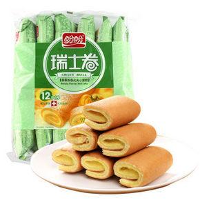 盼盼 瑞士卷 香蕉味卷式夹心蛋糕 240g 折6.4元(12.9,5件5折)