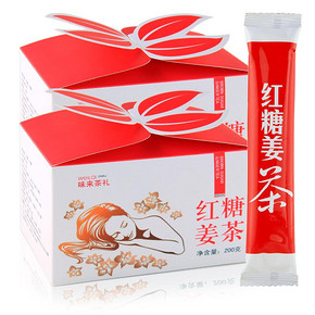 味来轩 速溶红糖姜茶 200g 拍下7.2元包邮