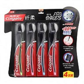 高露洁 纤柔备长炭牙刷 8支+牙膏40g*2支 31.8元