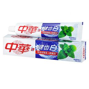 中华 健齿白 清新薄荷味牙膏200g 折3.5元(6.8,199-100)