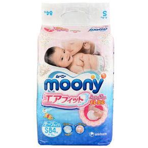 MOONY 尤妮佳 婴儿纸尿裤 S84片 77.9元(69+7.9)