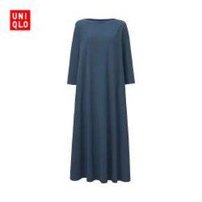 UNIQLO优衣库 女装 花式7分袖连衣裙 99元