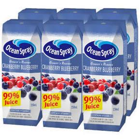 优鲜沛 果农精选 99% 蔓越莓蓝莓复合果汁 250ml 14.4元(12.9+1.5)