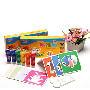 无毒可水洗# caipo 儿童手指画涂鸦颜料 6支装 券后11.5元包邮