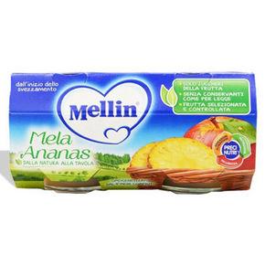 MELLIN 美林 果泥 苹果菠萝果泥 100g*2瓶 折11元(99元选10件)