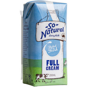 澳洲进口 So Natural 全脂UHT牛奶 200ml*24盒 45.3元(39.9+5.4)