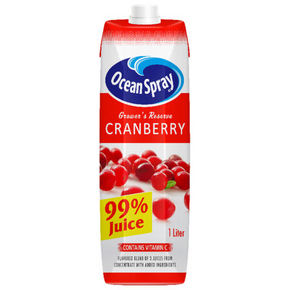 OceanSpray 优鲜沛 果农精选99% 蔓越莓复合果汁 1L 7.9元(6.5+1.4)