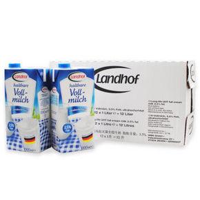 德国进口 莱文堡 超高温灭菌全脂牛奶 1L*12盒 69.9元