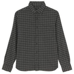 MUJI 男式 棉法兰绒格子衬衫 99元