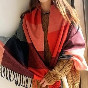 欧诗萌 韩国两用毛线围巾披肩 拍下9.9元包邮