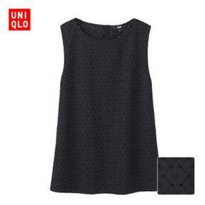 UNIQLO 优衣库 女装蕾丝无袖衬衫 79元
