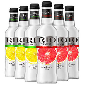 RIO 锐澳 鸡尾酒预调酒 本味 5.0% 275ml*6瓶 折58.5元(2件9折)