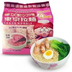 日本进口 东京拉面 鲜虾骨汤味 120g*2袋 19.8元